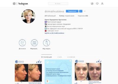 16000 подписчиков на Инстаграм пластического хирурга без рекламы
